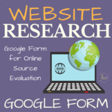 Evaluating Sources Google Form for Middle School and High School