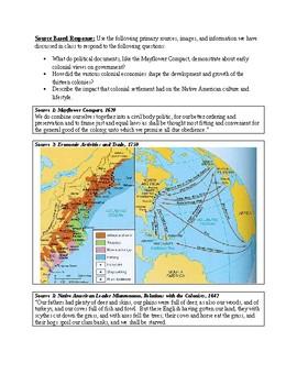 Source Based Response - American Colonies