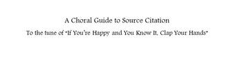 Source Citation Song