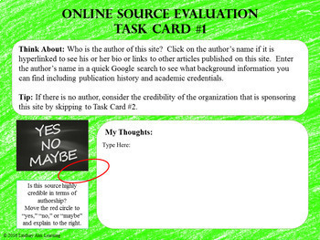 Source Evaluation Web Research Resources for Middle School and High School