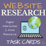Online Research Source Evaluation Digital Task Cards for Google Drive