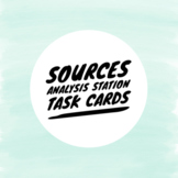 Sources Analysis Station Task Cards