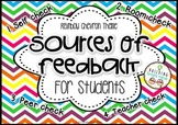 Sources Of Feedback {for students} - Rainbow Chevron