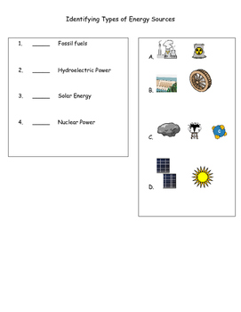Sources of Energy Assessment (Renewable and Nonrenewable resources)