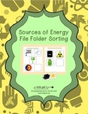Sources of Energy File Folder Activity
