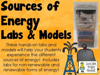 Sources of Energy - Labs and Models - Set of 7