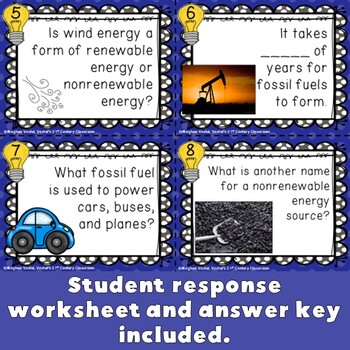 Sources of Energy Task Cards