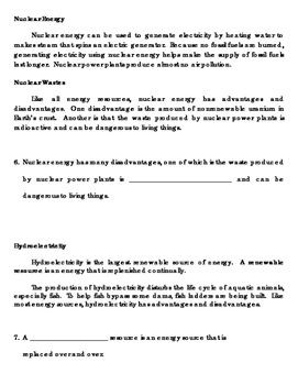 Sources of Energy WS MOD