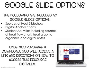 Sources of Heat Powerpoint, Song, & Graphic Organizers | Google Classroom