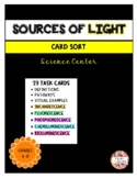 Sources of Light - Card Sort Activity