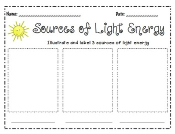 Sources of Light Energy