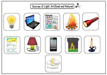 Natural And Artificial Light Worksheet
