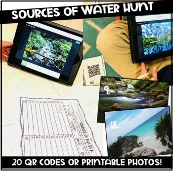 Sources of Water ~ QR Code Hunt {Digital Station}