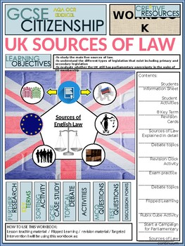 Sources of law Booklet of Student Activities and Worksheets