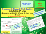 Sources of law GCSE CITIZENSHIP 9-1