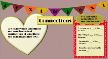 Sources to Model Text to Text Connections_Back to School_Reading Strategies