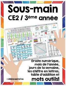 Sous-Main CE2 - 3ème Desk Reference