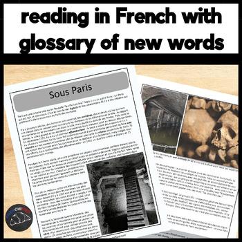 Sous Paris - a short reading with text-dependent questions