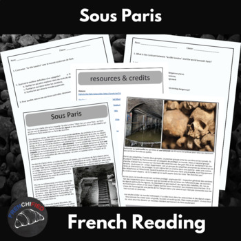 Sous Paris - a short reading with text-dependent questions