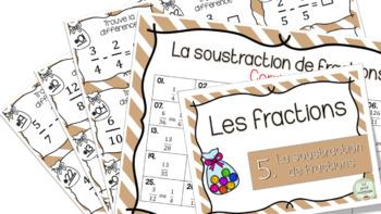 Soustraction de fractions