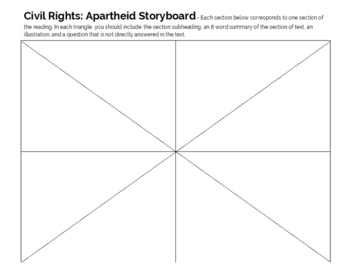 South Africa: Apartheid Reading and Storyboard Activity