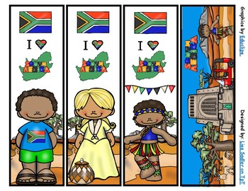 South Africa Bookmarks -  4 Designs