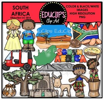 South Africa Clip Art Bundle {Educlips Clipart}