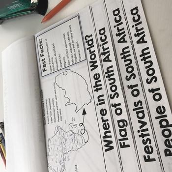 South Africa Flip Book: A Social Studies Interactive Activity for Grades 3-5