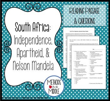 South Africa: Independence, Apartheid, & Nelson Mandela