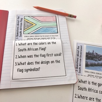 South Africa Interactive Notebook Research-Based Activity- Grades 3-5