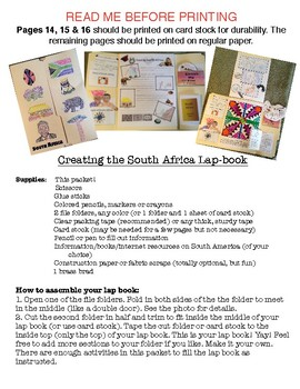South Africa Lap Book