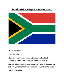 africa map scavenger hunt