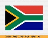 South Africa National Flag, Country Banner Cricut Print SVG EPS AI PNG JPG PDF