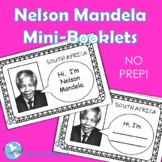 South Africa! Nelson Mandela No Prep Mini Coloring Booklets--Distance Learning