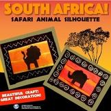 South Africa! Safari Animal Silhouette Craft - Easy Step-b