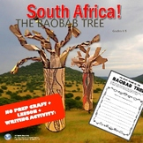 South Africa! The Baobab Tree - Lesson, No Prep Craft, & W