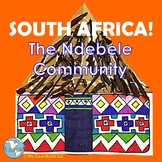 South Africa! The Ndebele Community - Lesson, Painted House Craft with Geometry