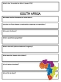 South Africa Worksheet Questionnaire