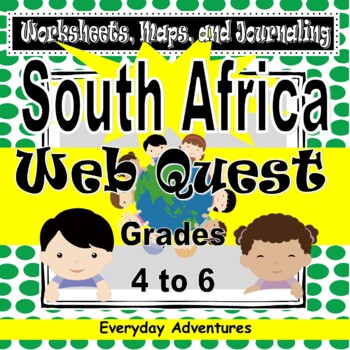South Africa:  Worksheets, Maps, and Journaling Pages