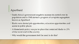 South Africa and Apartheid PowerPoint, Guided Notes, and Completed Notes