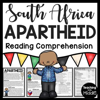 South African Apartheid Reading Comprehension Worksheet, D