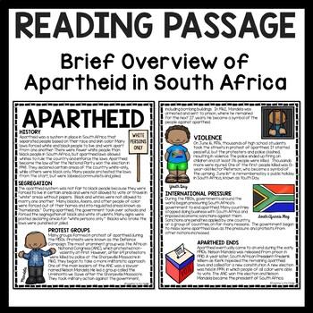 south african apartheid reading comprehension worksheet dbq nelson mandela. Black Bedroom Furniture Sets. Home Design Ideas