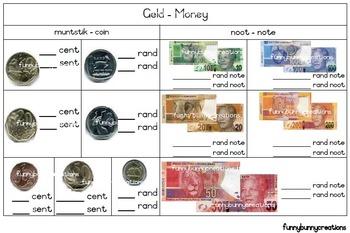 South African - Geld Werkkart Money Worksheet WS1L2 (Afrikaans)