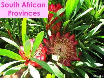 South African Provinces : PowerPoint using Montessori principles