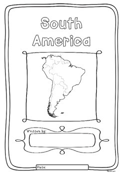 South America 12 Countries Study - worksheets flags and ma
