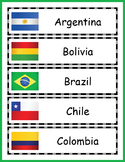 South America Geography Word Wall