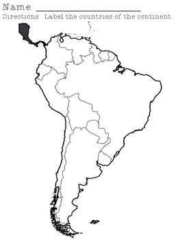 South America Continent Research Packet