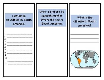 South America Activity (Make a Brochure)