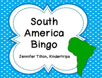 South America Bingo