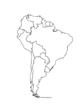 South America Blank Map